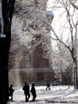 snow in Harvard Yard