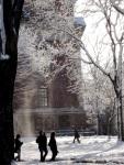 snow in Harvard Yard