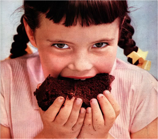 Hey, little girl. That's not chocolate cake.